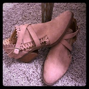 Summer booties blush/tan